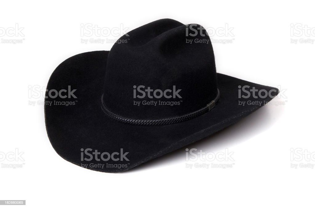 Black cowboy hat royalty-free stock photo