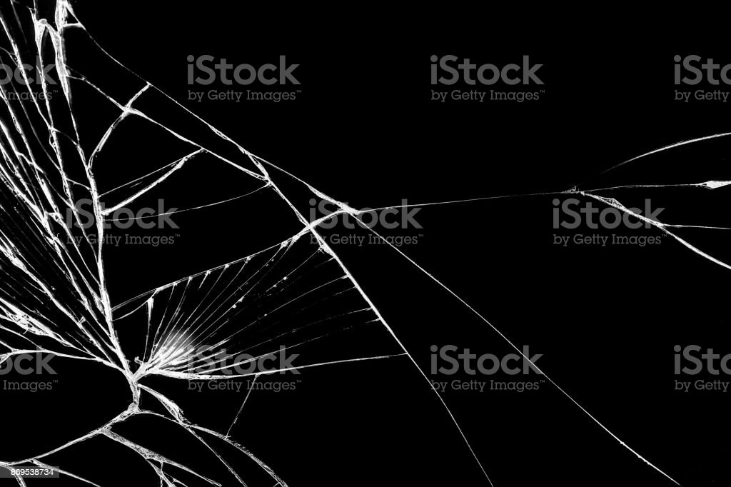 Black cracked Touch Screen Phone, background, texture for you project. stock photo
