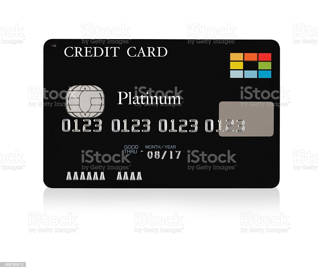 Preto cartão de crédito - foto de acervo
