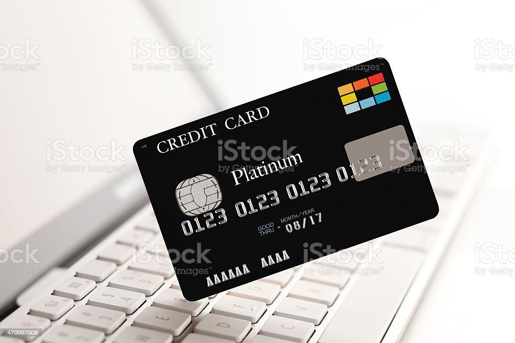 Compra on-line de cartão de crédito - foto de acervo