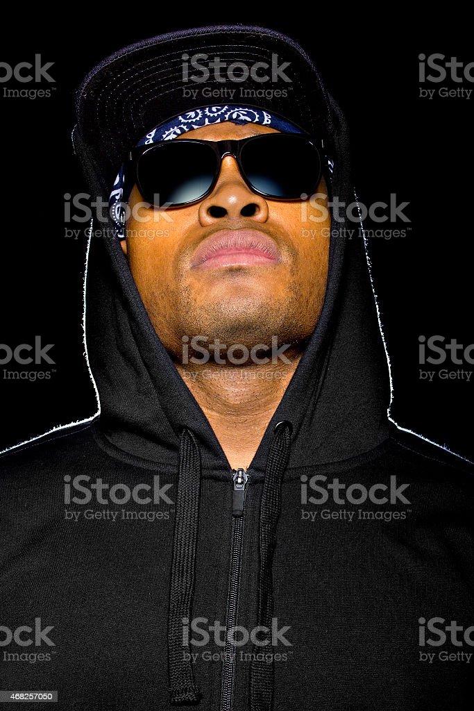 Black Criminal or Misunderstood Urban Youth stock photo