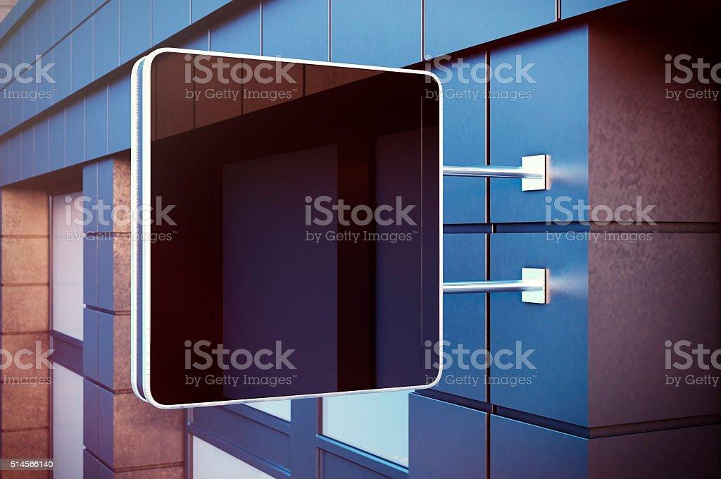 Preto cristal Tela digital no bulding cidade. Fachadas de concreto - foto de acervo