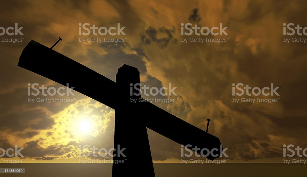 Black cross against the sky royalty-free stock photo