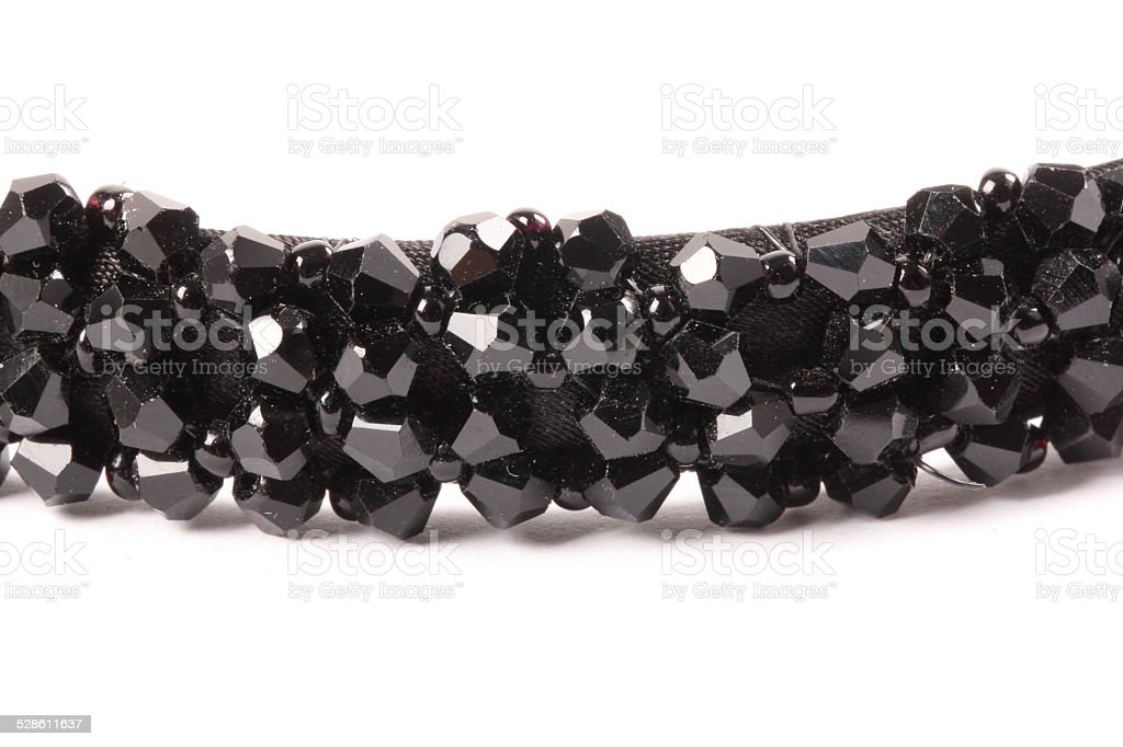 Black crystal stock photo