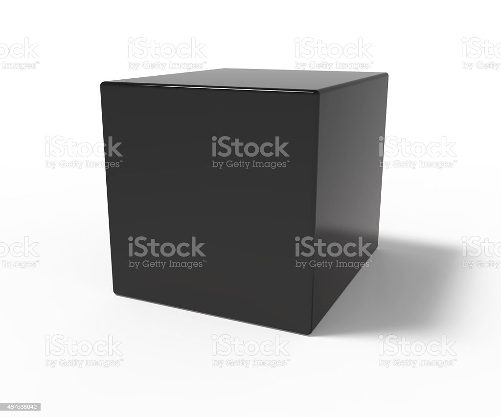 Black cube stock photo