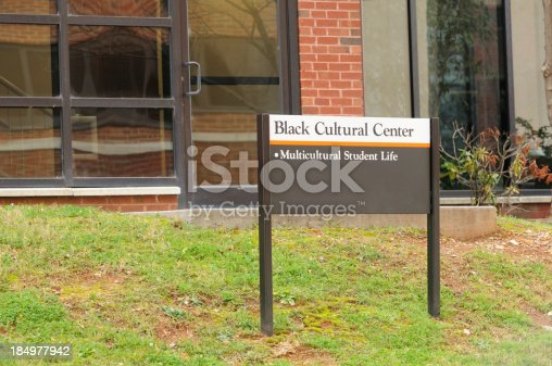 istock Black cultural center sign 184977942