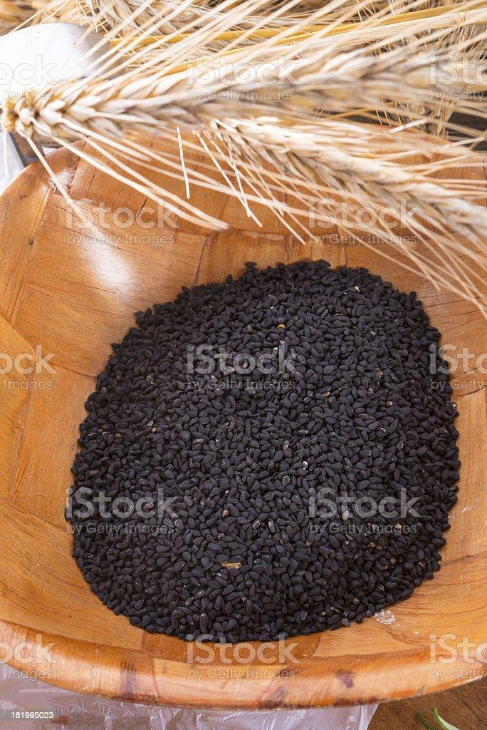 Black cumin (Nigella sativa) royalty-free stock photo