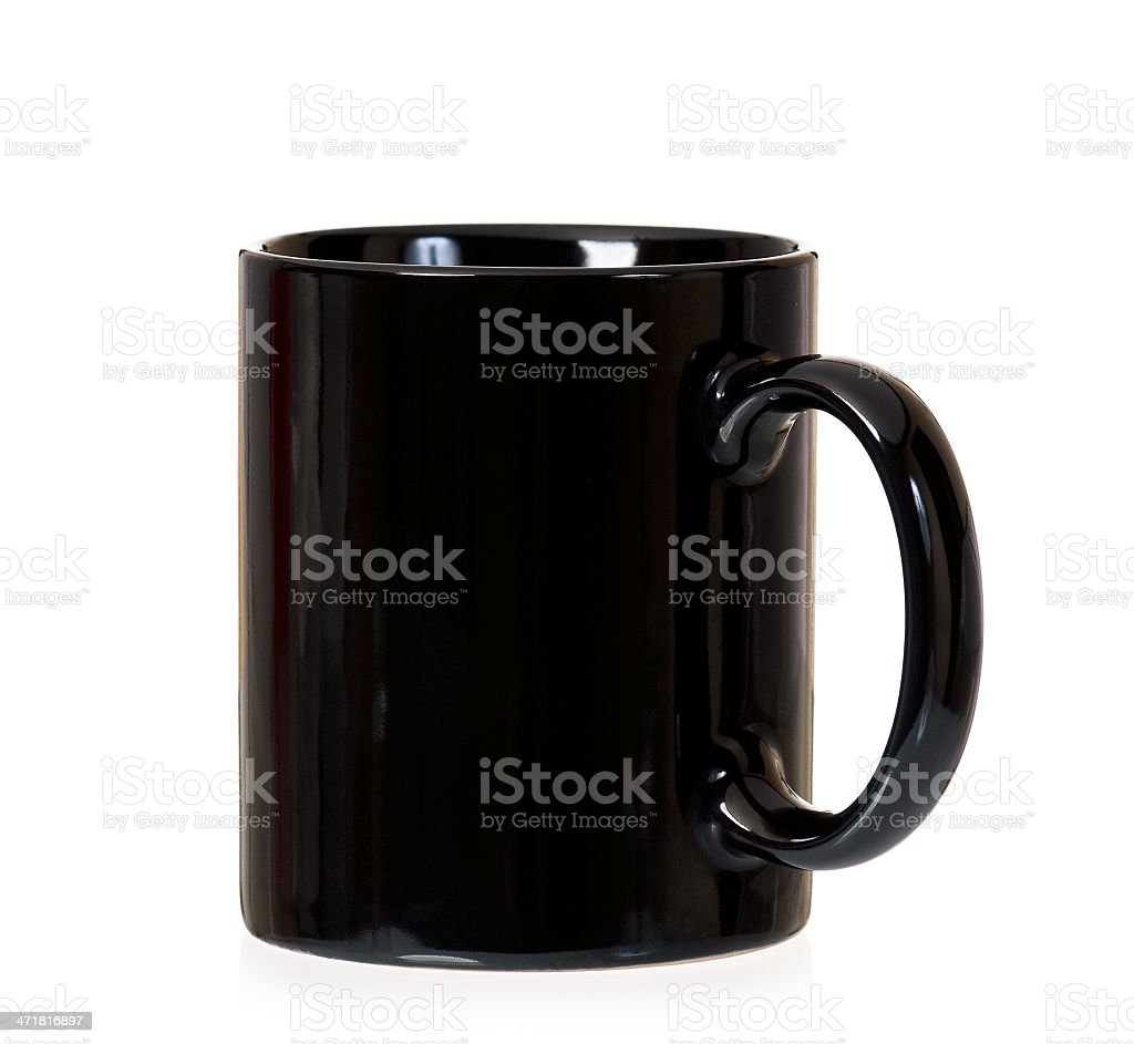 Black cup royalty-free stock photo
