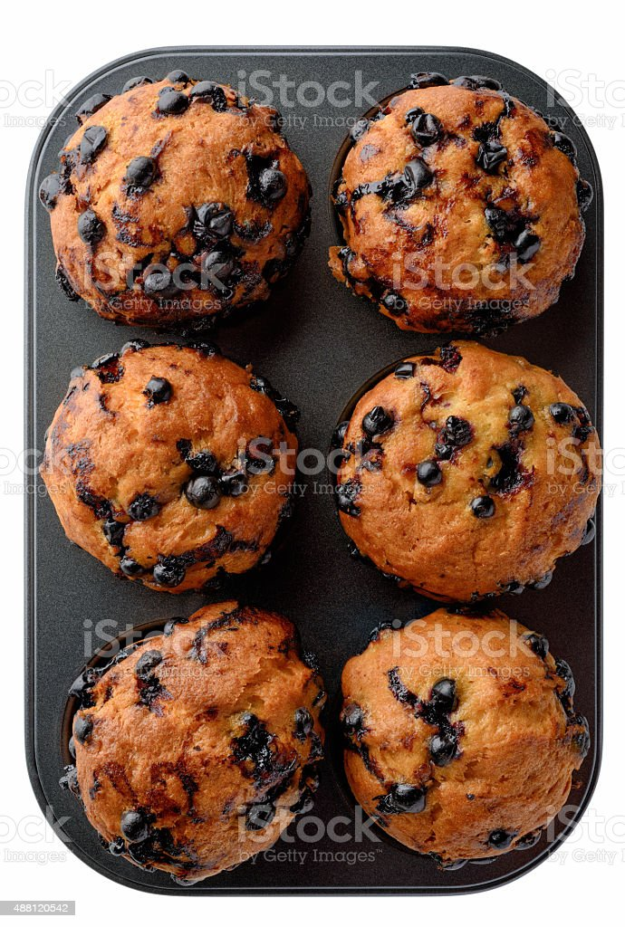 Black currant muffins royalty-free stock photo