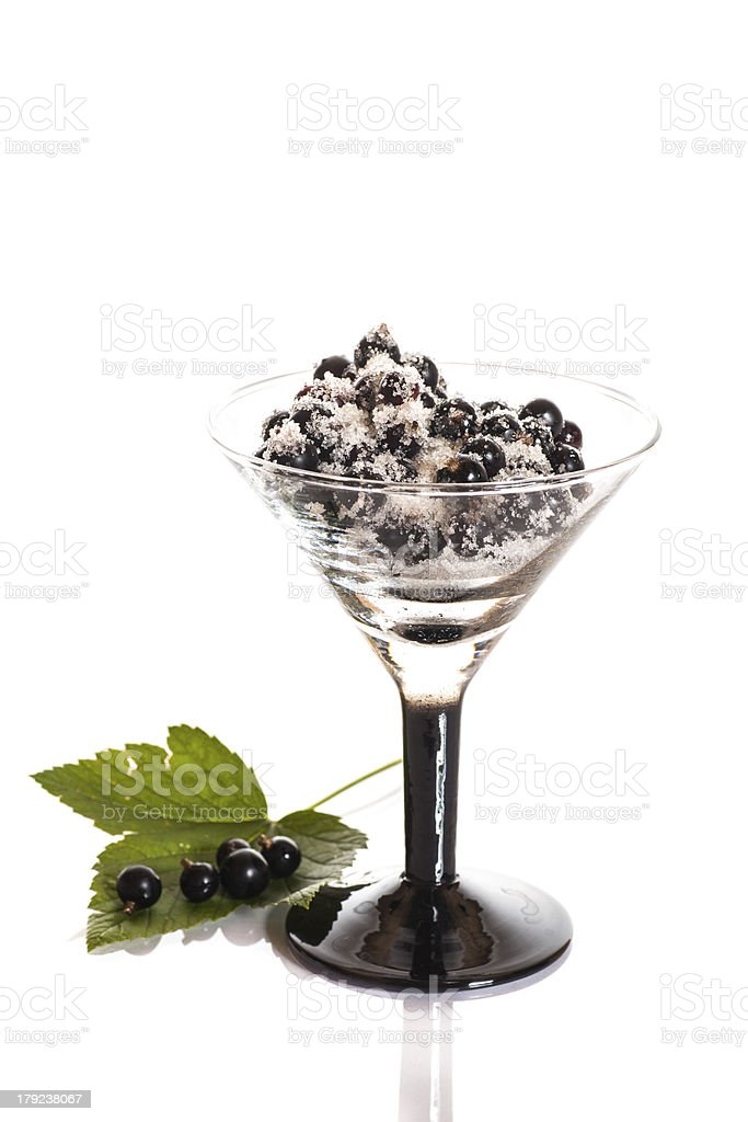 black currants in sugar royalty-free stock photo