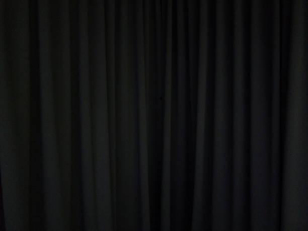 검은 커튼 배경 장면 스톡 사진