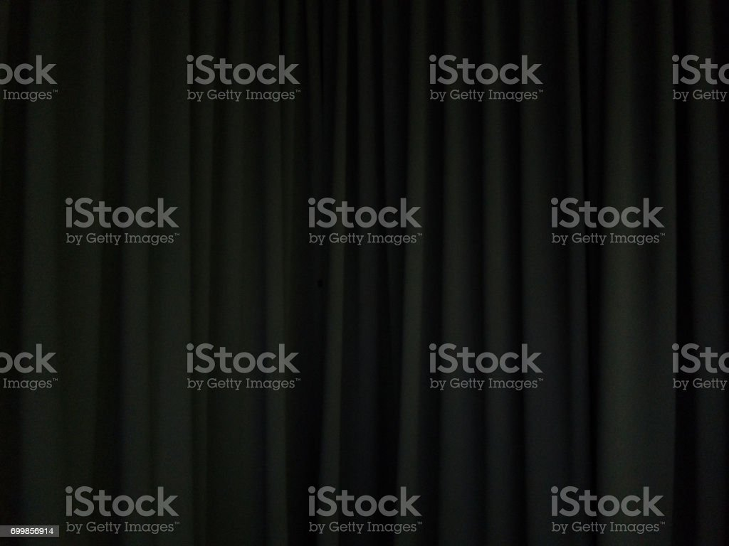 black curtain background scene stock photo