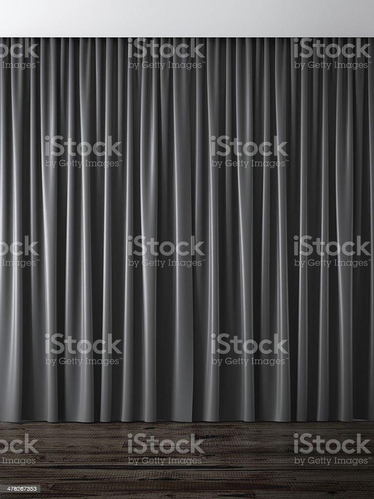black curtains stock photo