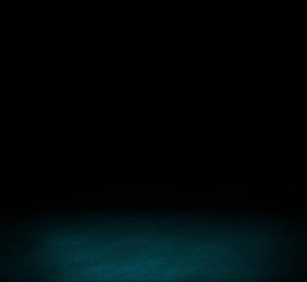 Negro y piso de pared azul oscuro fondo interior - foto de stock