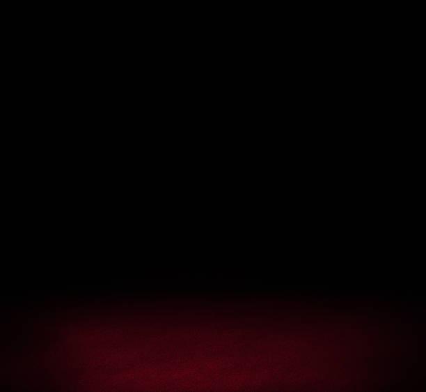 Negro y rojo oscuro pared interior de fondo de piso - foto de stock