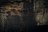 black dark wood for halloween background, wooden board rough grain surface texture