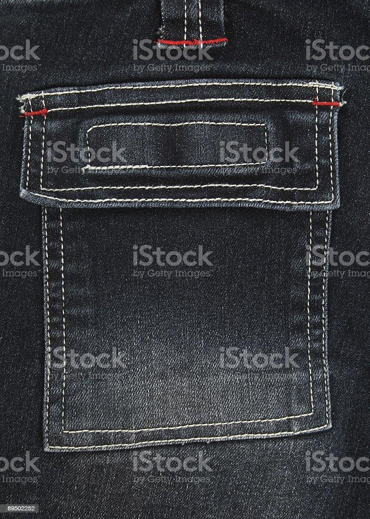 Black denim pocket royalty free stockfoto