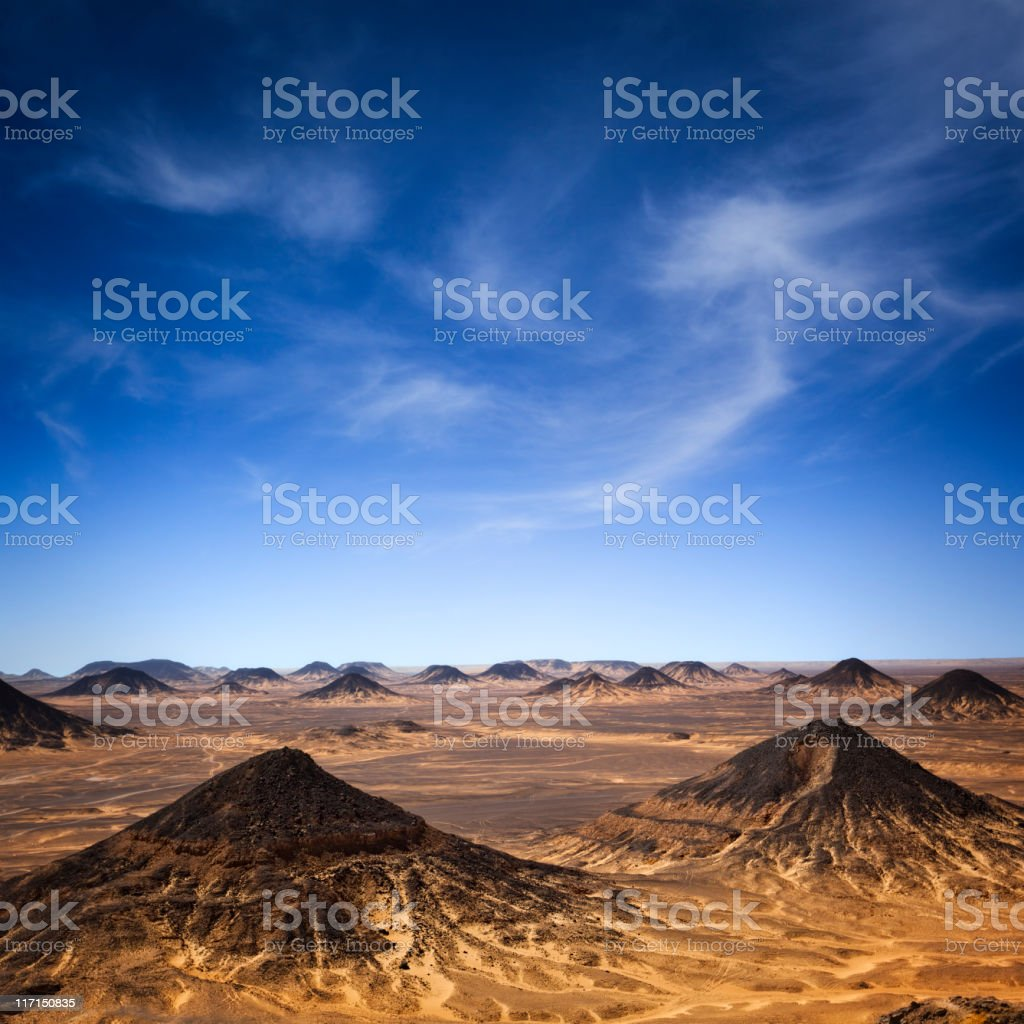 Black Desert Hills royalty-free stock photo