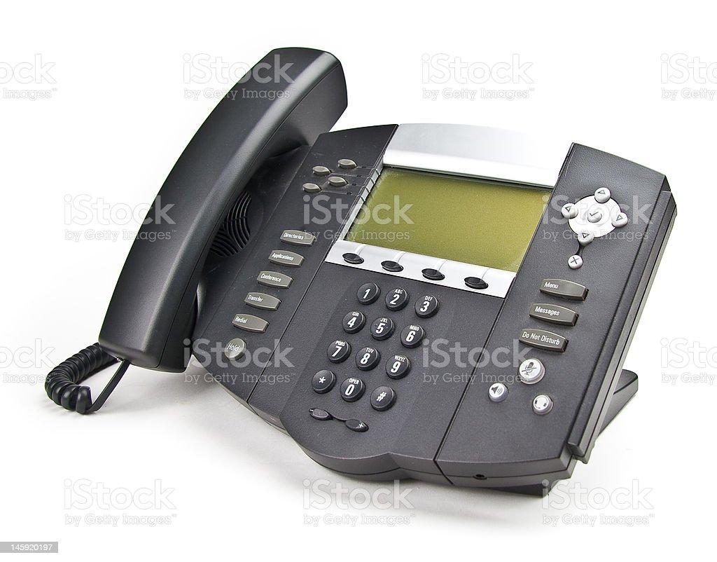 Black Desk Phone royalty-free stock photo
