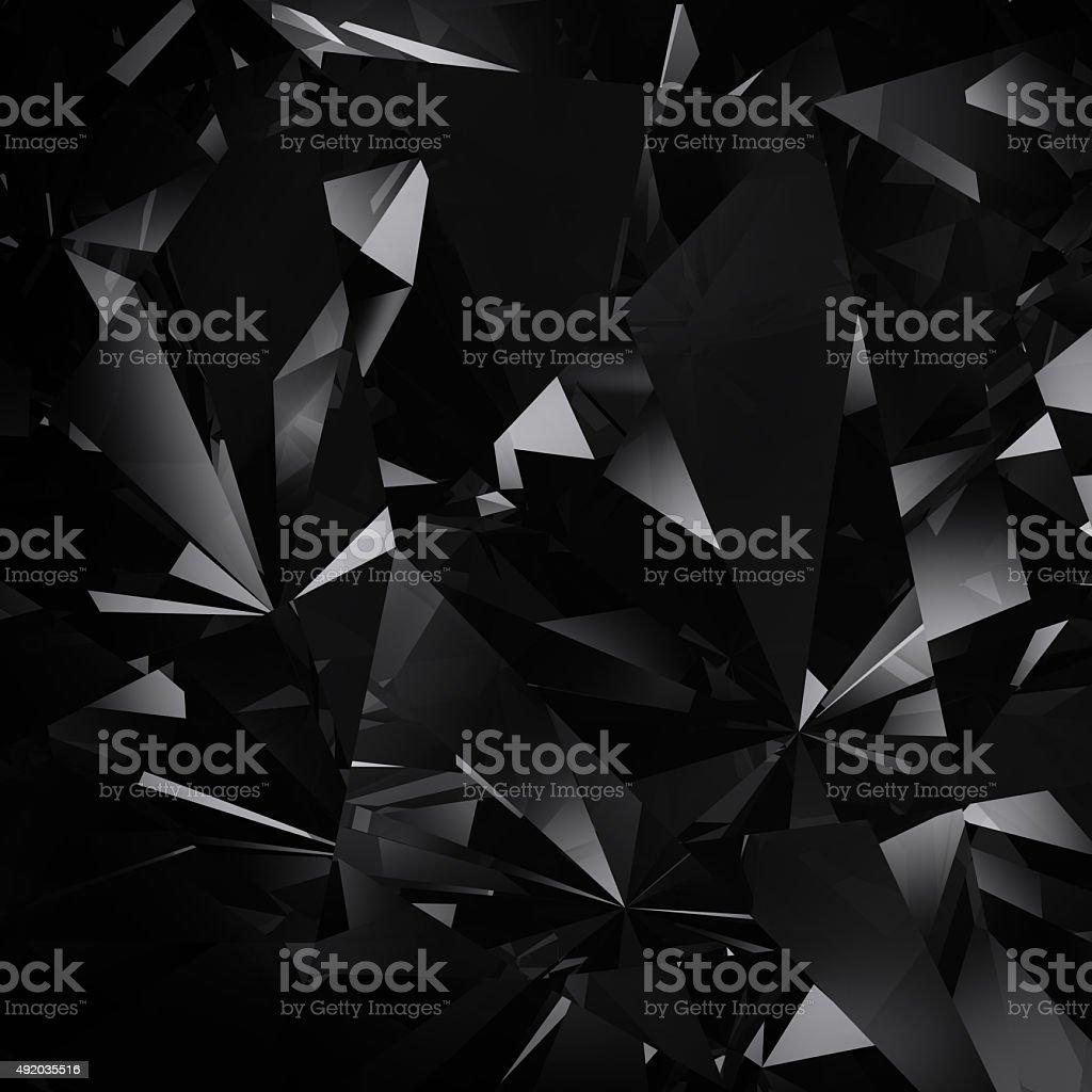 black diamond facet background stock photo