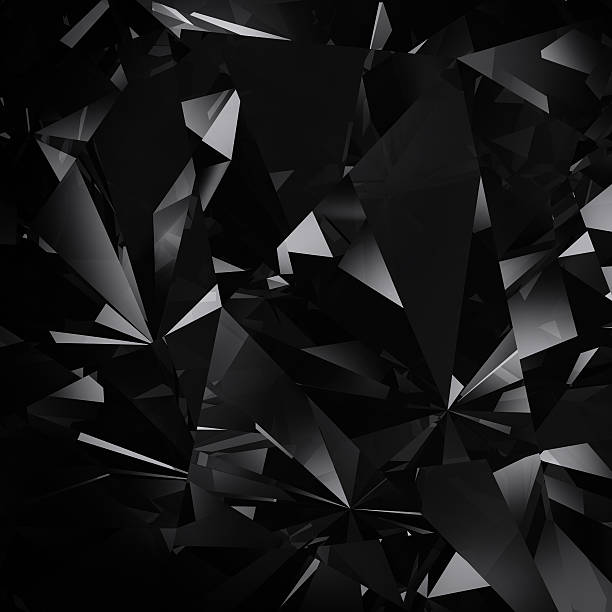 black diamond facet background stock photo
