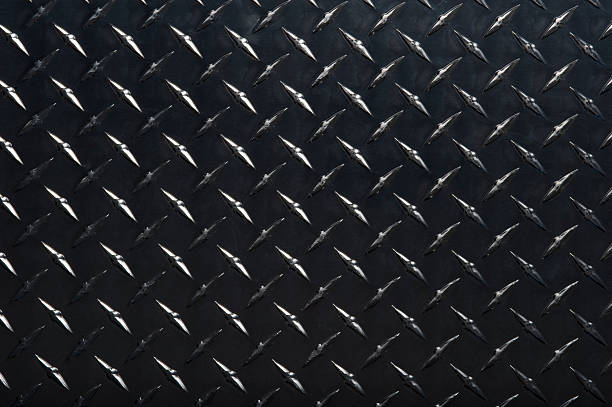 black diamond plate - diamond plate background stock photos and pictures