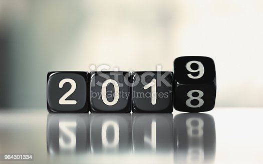 968874704istockphoto Black Dices are Rolling From 2018 to 2019 964301334