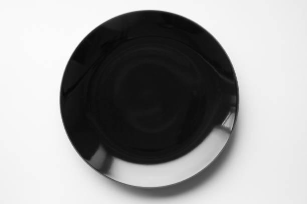 black dish stock photo