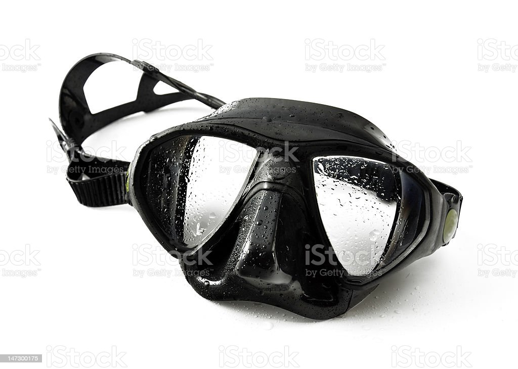 Black diving mask stock photo