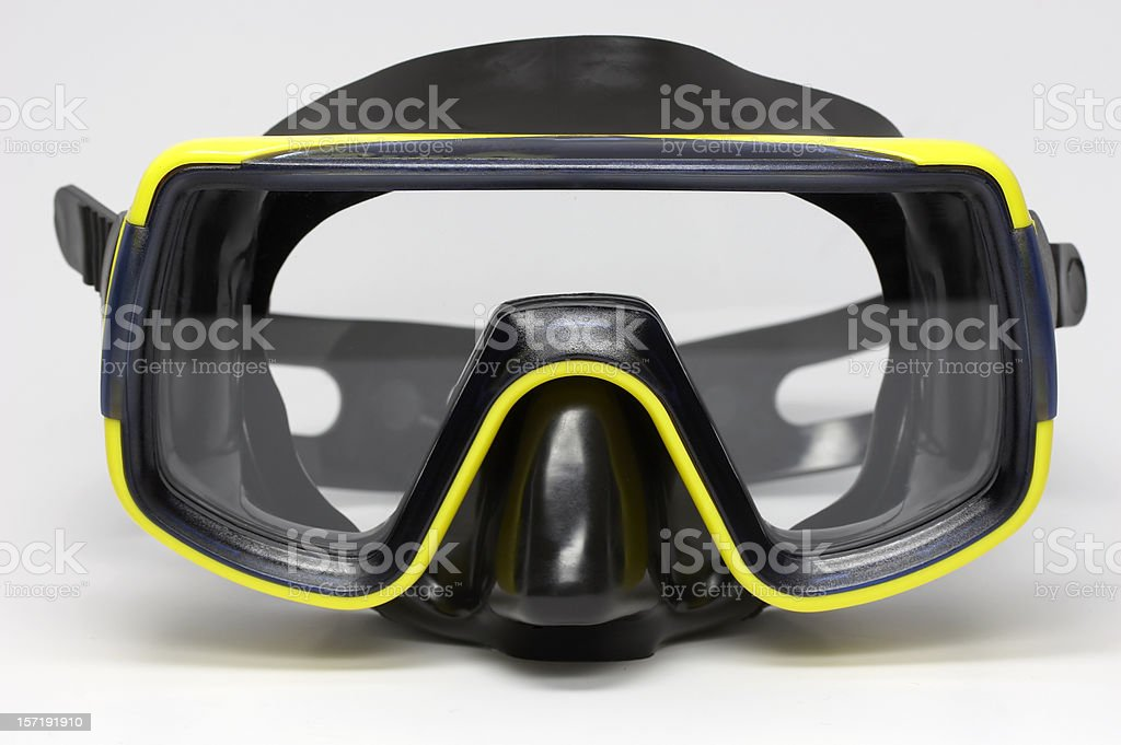 Black diving mask royalty-free stock photo