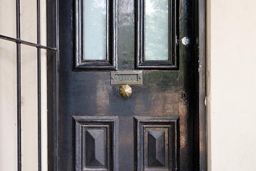Black door detail