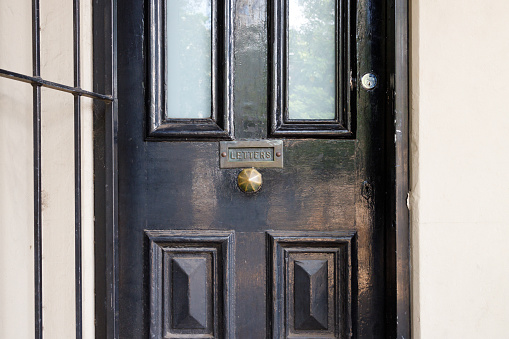 Black door detail