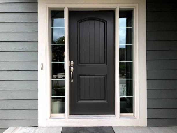 Black Door black door front door stock pictures, royalty-free photos & images