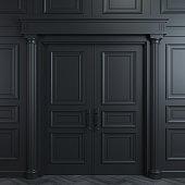 Black double classic door