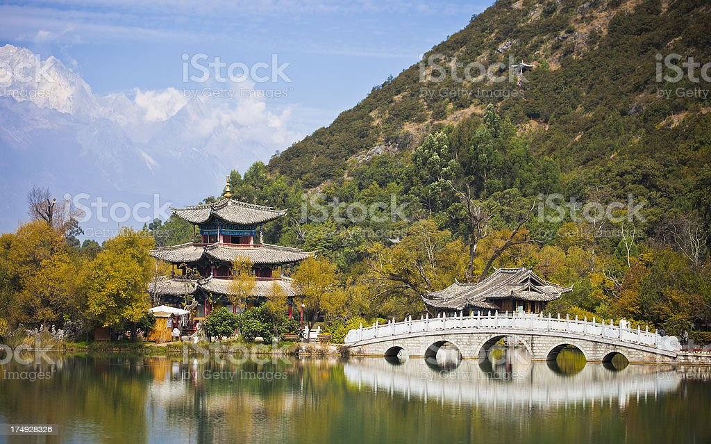 Black Dragon Pool In Lijiang, China royalty-free stock photo