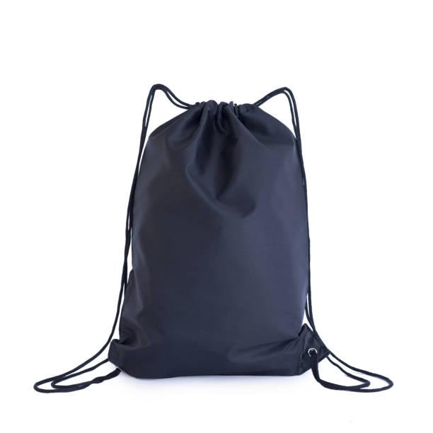 tunnelzug-pack-vorlage schwarz, tasche für sportschuhe, die isoliert auf weiss - kabelschuhe stock-fotos und bilder