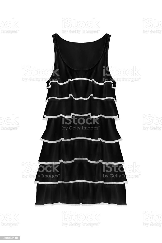 Black dress isolated stock photo