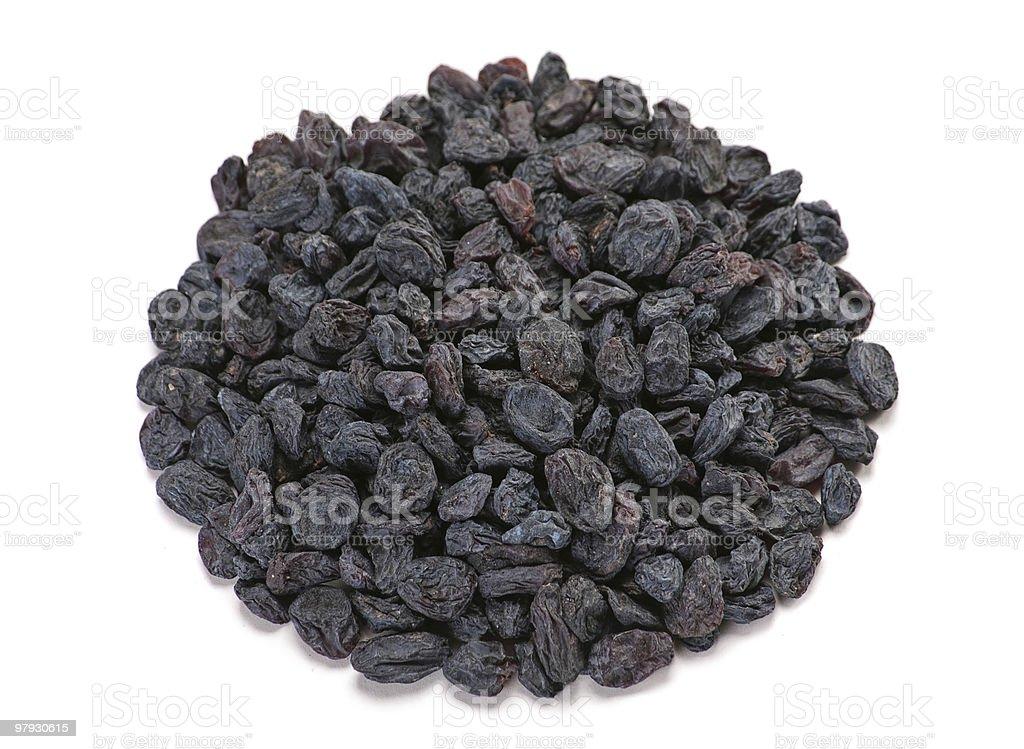 Black dried fruit raisin royalty-free stock photo