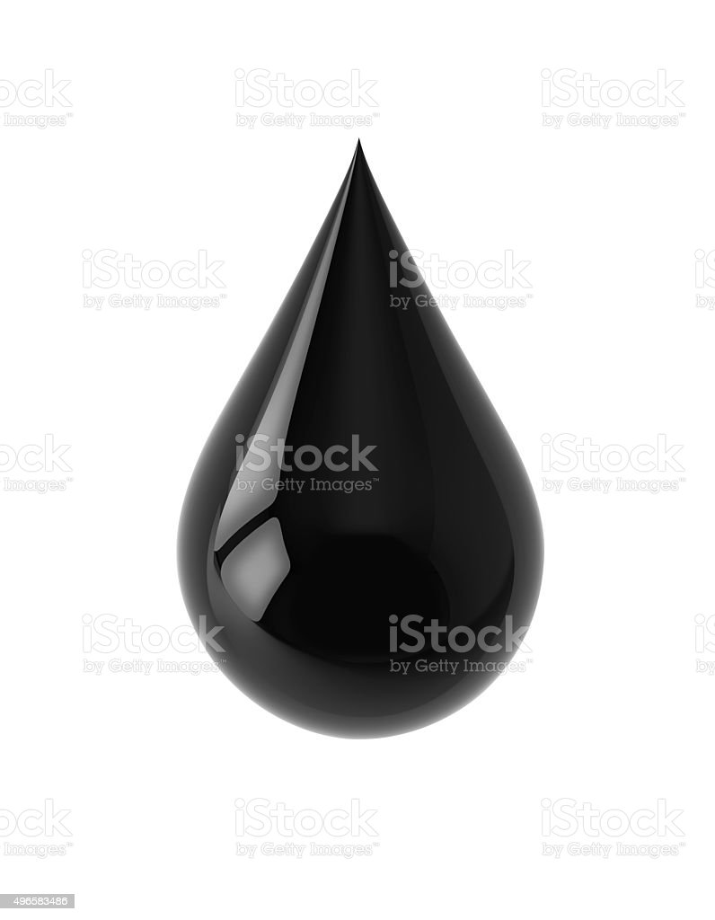 Black drop with clipping path stock photo