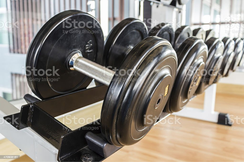 Black Dumbbell. stock photo