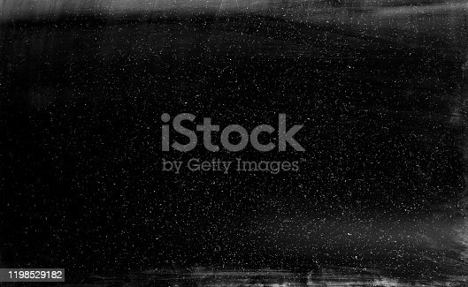 Black dusty texture overlay. Grainy film. Vintage abstract background.