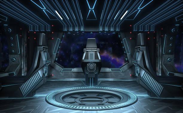 aigle noir. intérieur du vaisseau spatial. - vaisseau spatial photos et images de collection