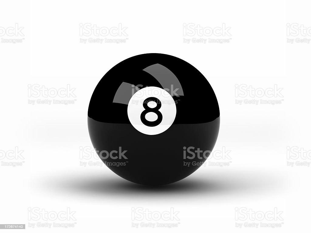 Negro ocho bola de billar - foto de stock