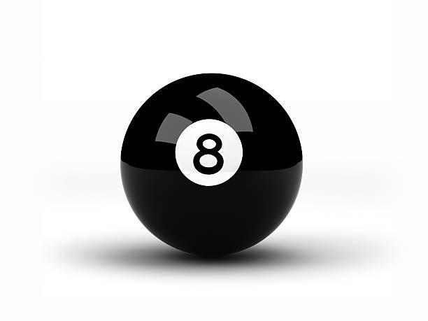 Black Eight pool ball stock photo