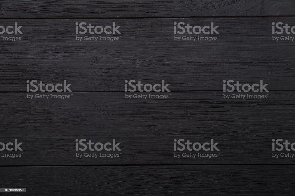 Fond En Bois Blanc Vide Noir, Verni Foncé Table Surface, Planches Couleur  Texture Bois