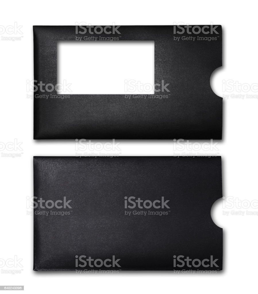 Black envelope for business correspondence stock photo