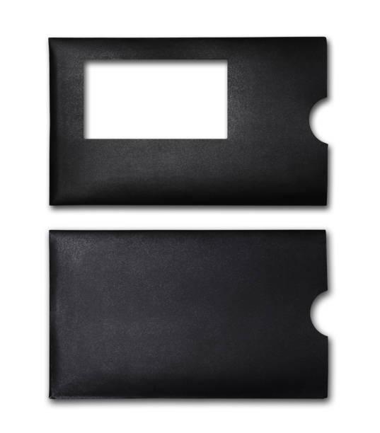 Black envelope for business correspondence stock photo