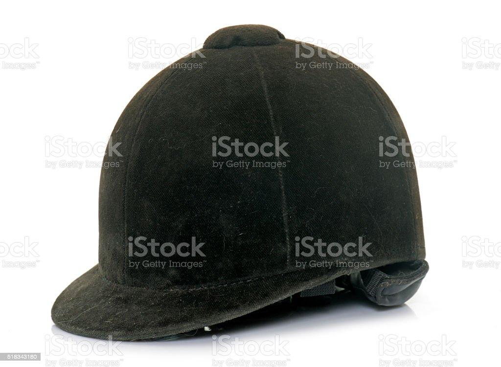 black Equestrian helmet stock photo