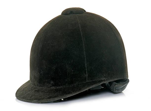 équestre noir casque - casque de protection au sport photos et images de collection
