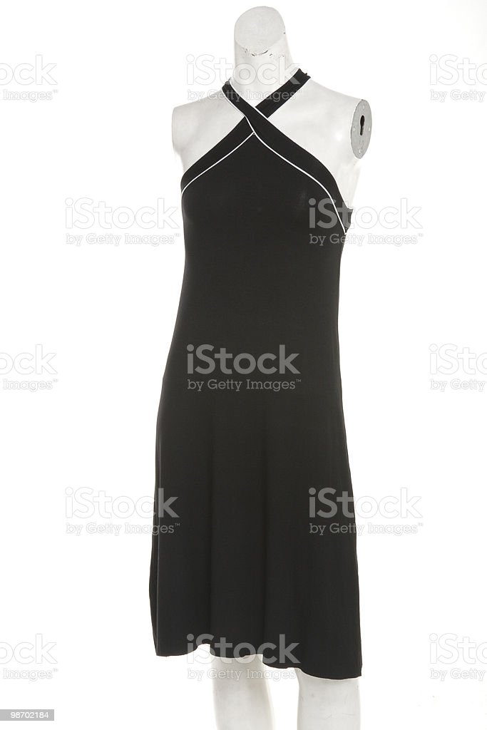 black evening dress royalty-free stock photo